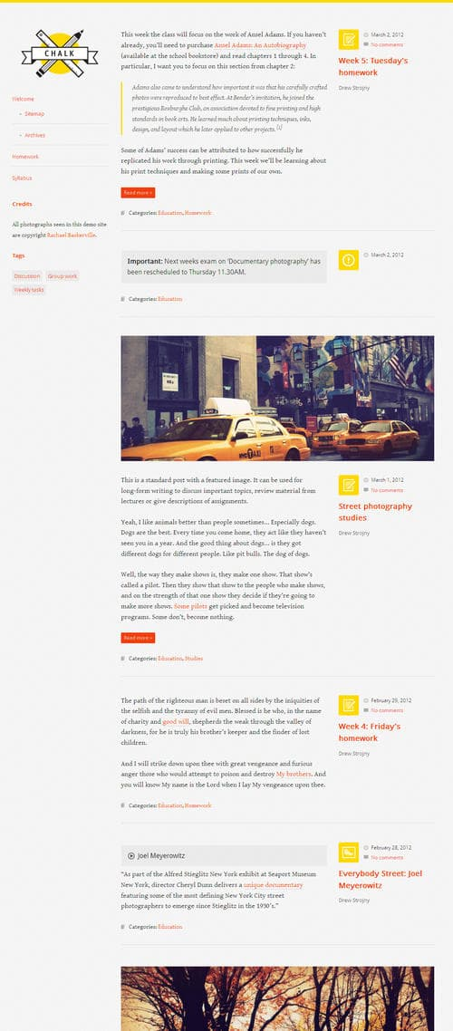 Chalk Responsive WordPress Theme