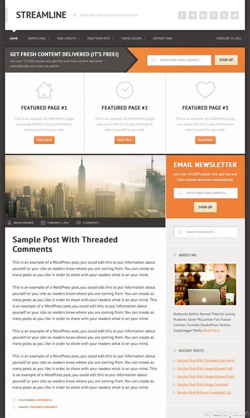 streamline wordpress theme