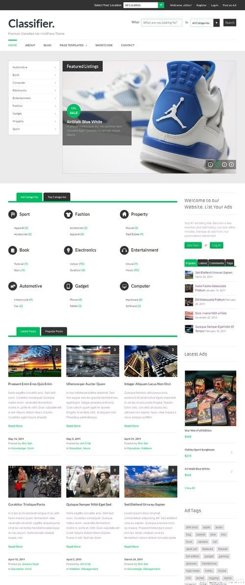 Classifieds Ads WordPress Theme