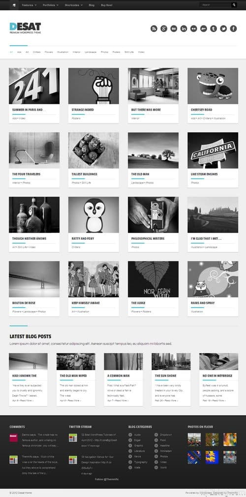 Desat WordPress Theme