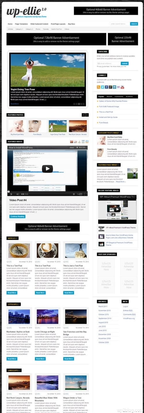 WP-Ellie WordPress Theme