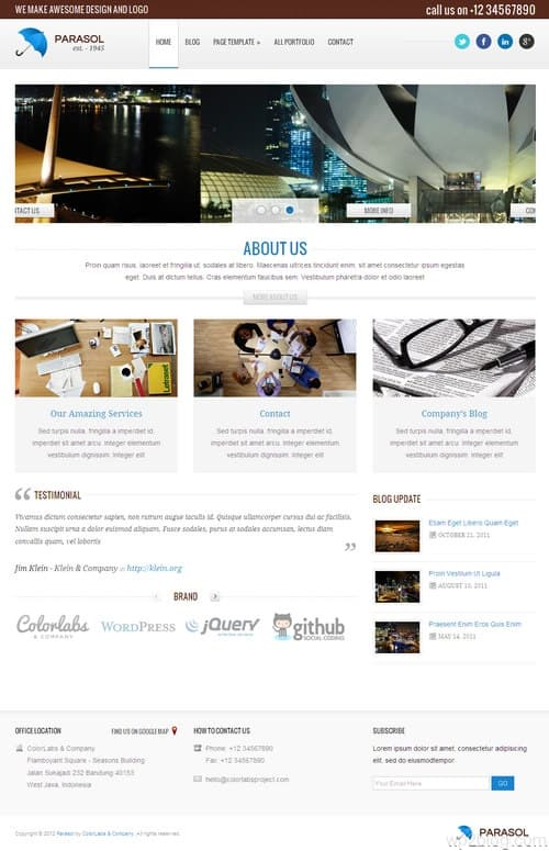 Parasol WordPress Theme