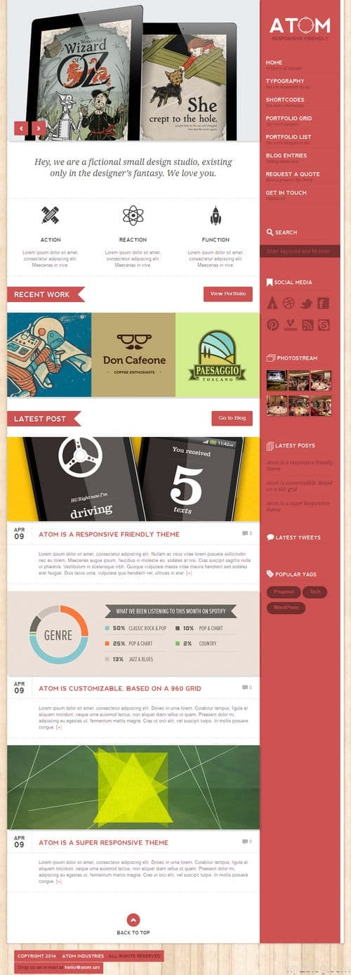 ATom WordPress Theme