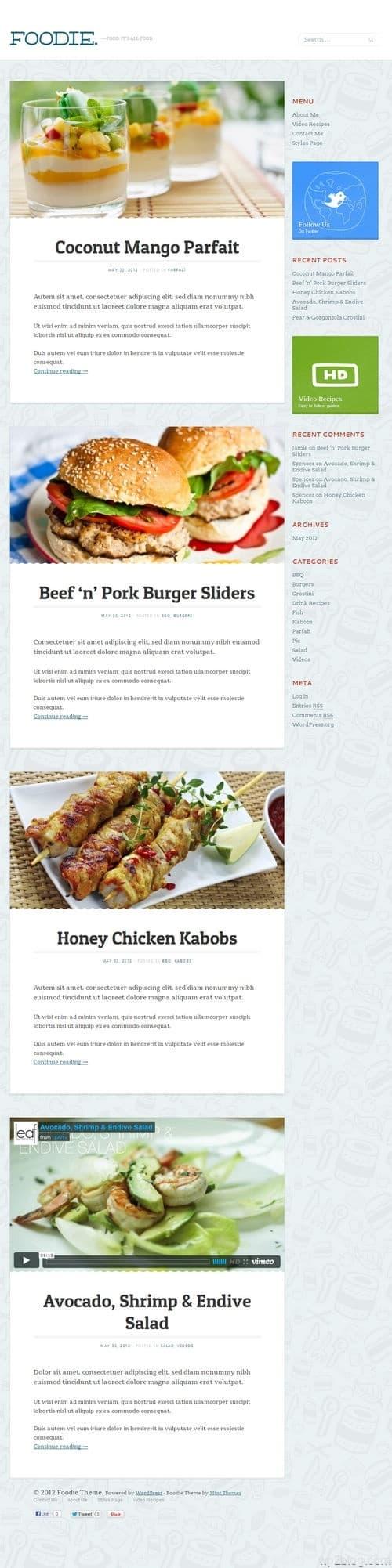 Foodie WordPress Theme