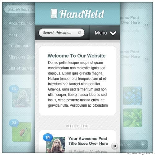 HandHeld WordPress Theme