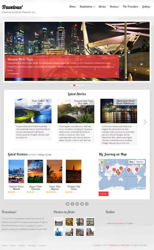 Travelous WordPress Theme
