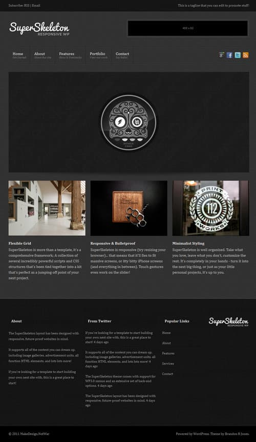 Super Skeleton WordPress Theme
