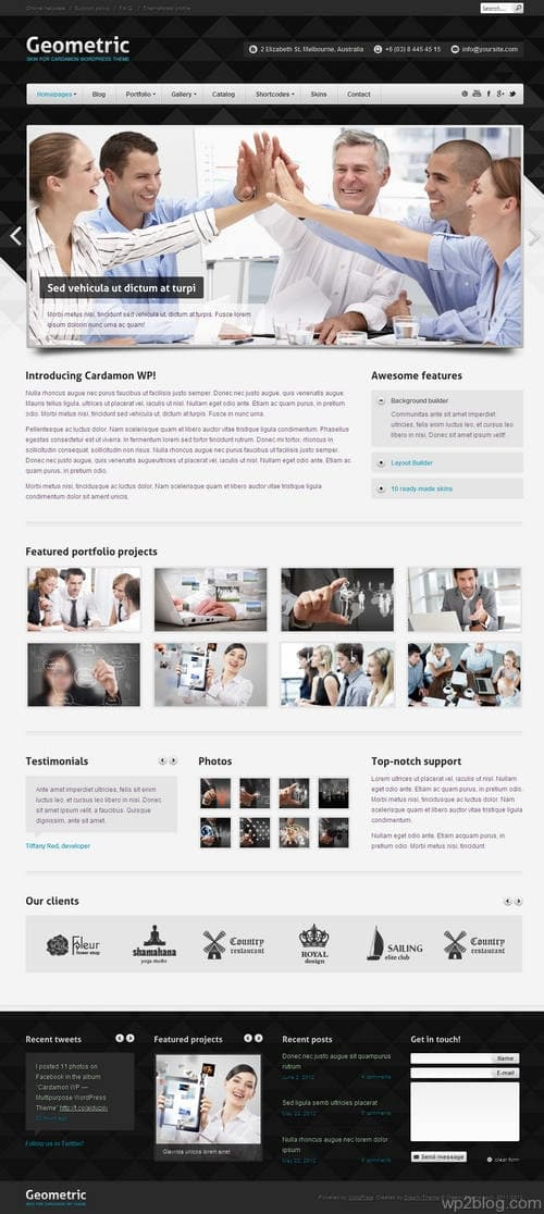 Cardamon WordPress Theme