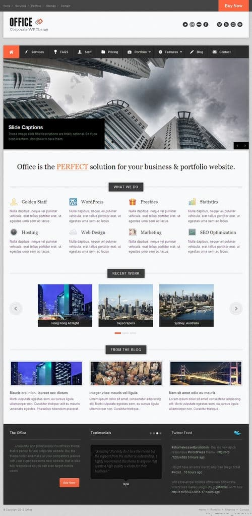 Office WordPress Theme