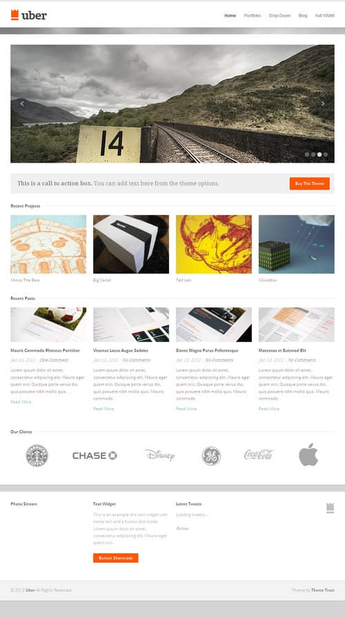 Uber WordPress Theme