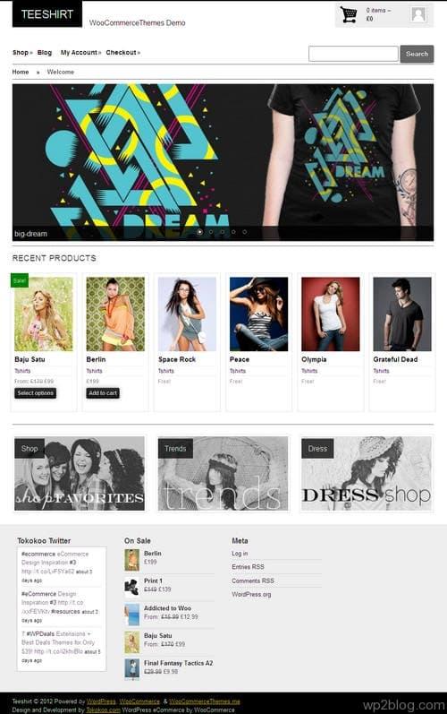 TeeShirt WordPress Theme