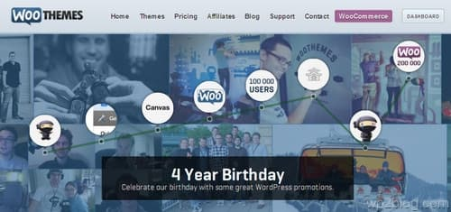 4 Year Birthday Promotion from WooThemes