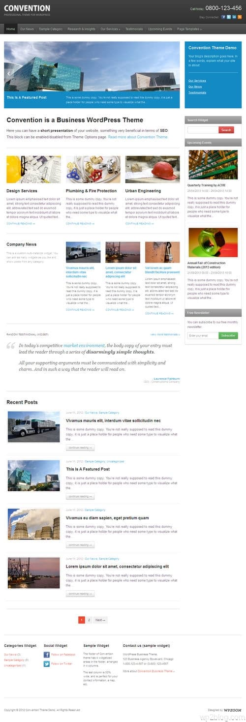 Convention WordPress Theme