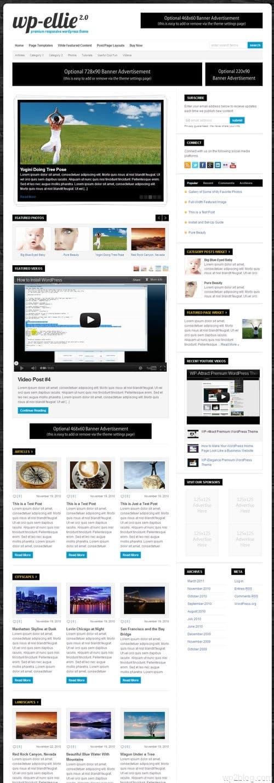 WP-Ellie WordPress Theme