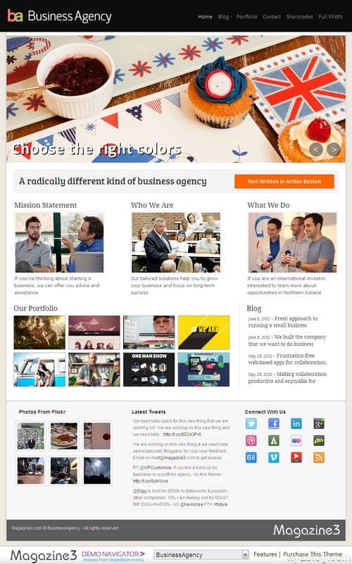 BusinessAgency WordPress Theme