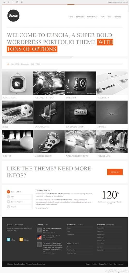 Eunoia WordPress Theme