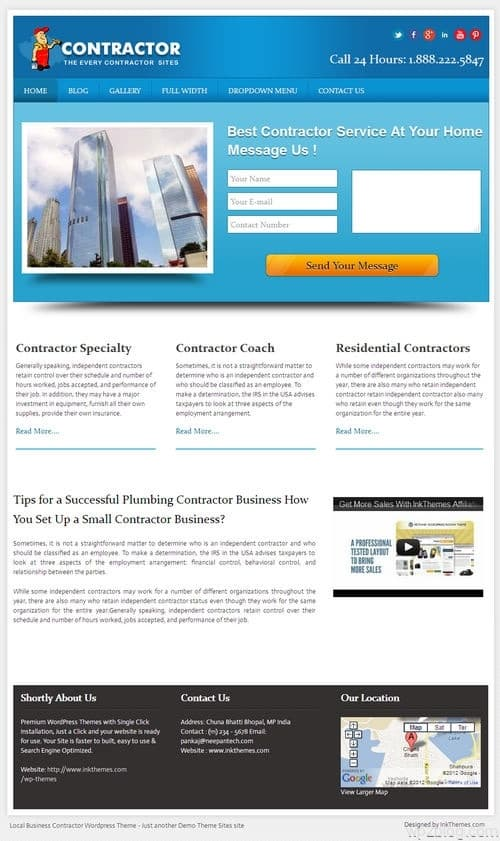 LocalBusiness WordPress Theme