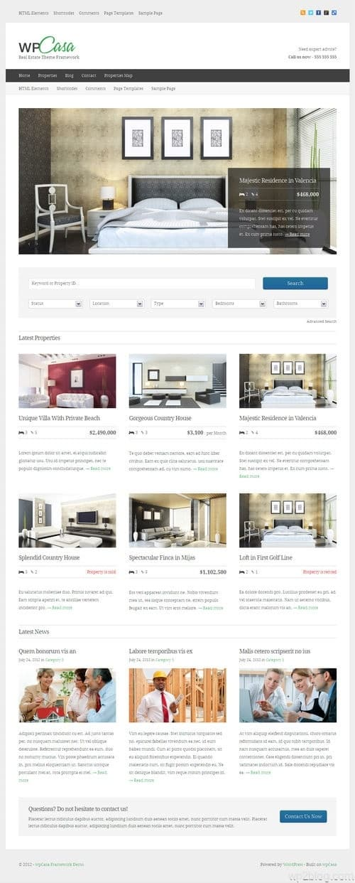 WPcasa WordPress Theme