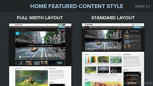 deTube Homepage Layout