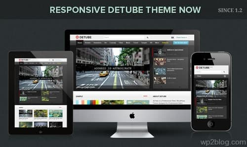 detube responsive design