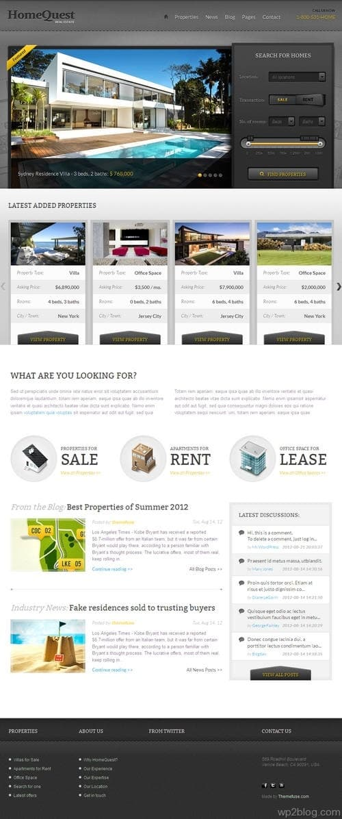HomeQuest WordPress Theme