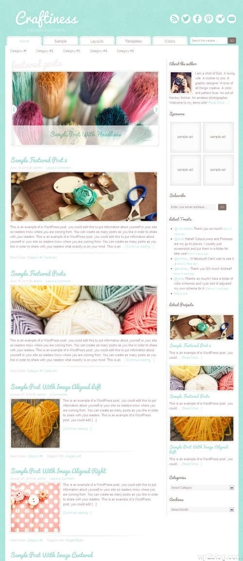 Craftiness 1.0 WordPress Theme