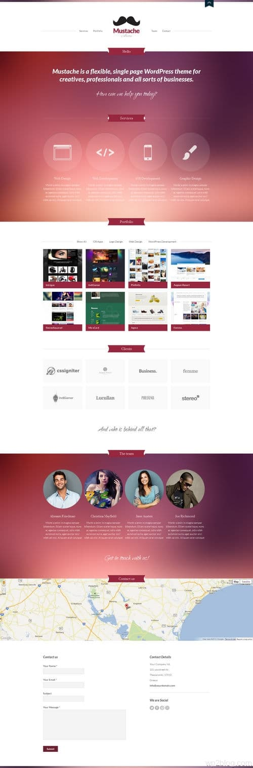 Mustache WordPress Theme