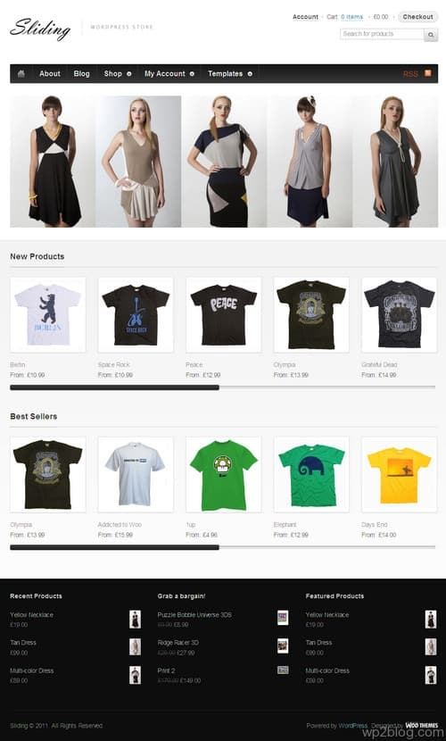 Sliding Ecommerce WordPress Theme