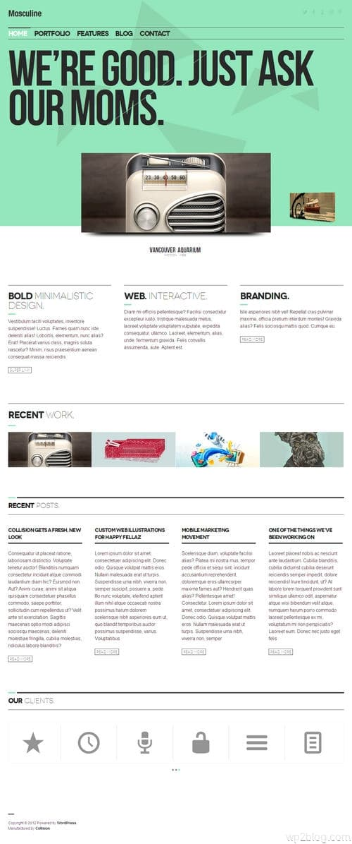 Masculine WordPress Theme