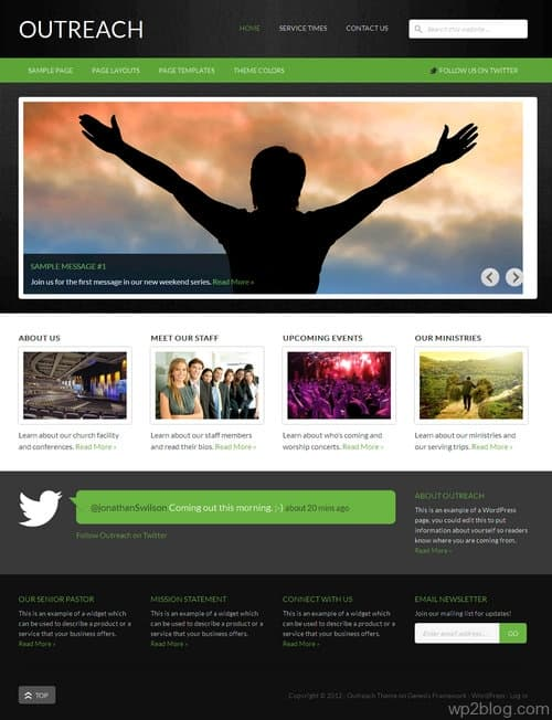Outreach 2.0 WordPress Theme