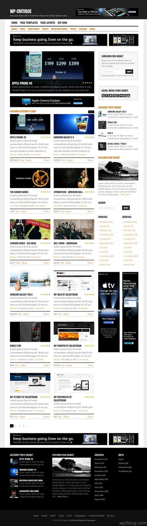 WP-Critique WordPress Theme