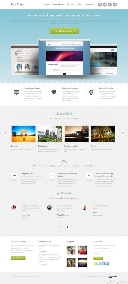 PixelPress WordPress Theme