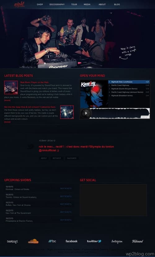 Night Music WordPress Theme