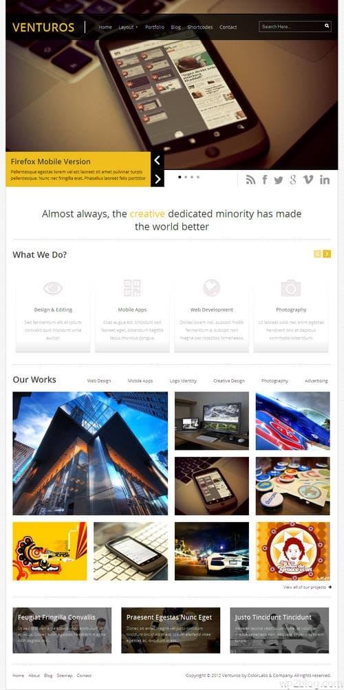 Venturos WordPress Theme
