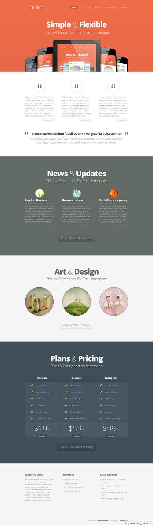 Nimble Responsive WordPress Theme
