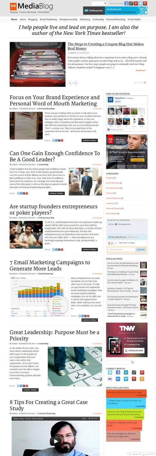 MediaBlog WordPress Theme