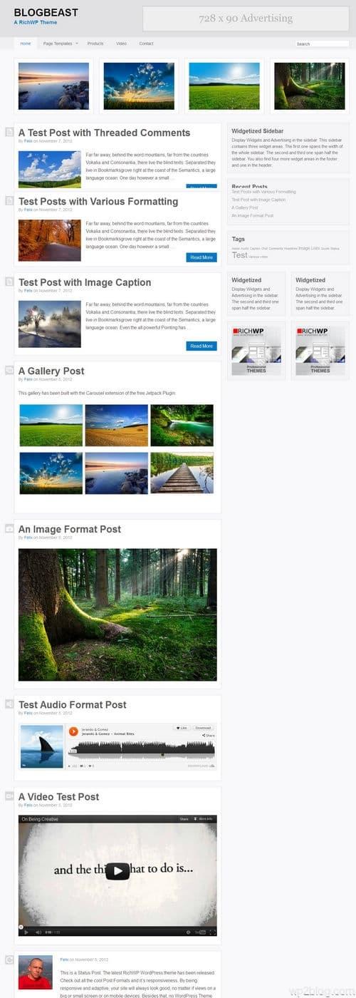 Blogbeast WordPress Theme