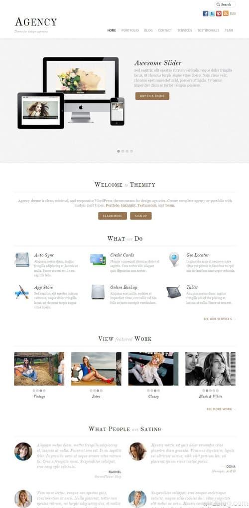 Agency Responsive WordPress Theme