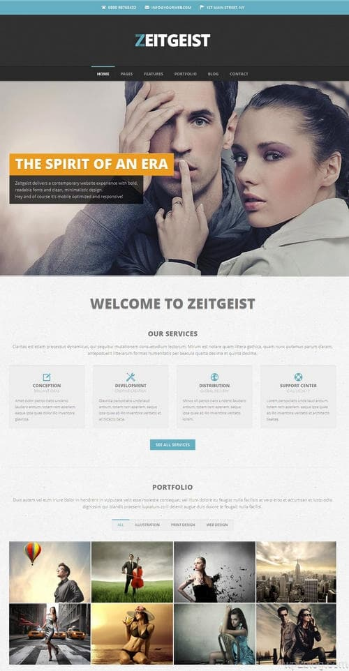 Zeitgeist WordPress Theme
