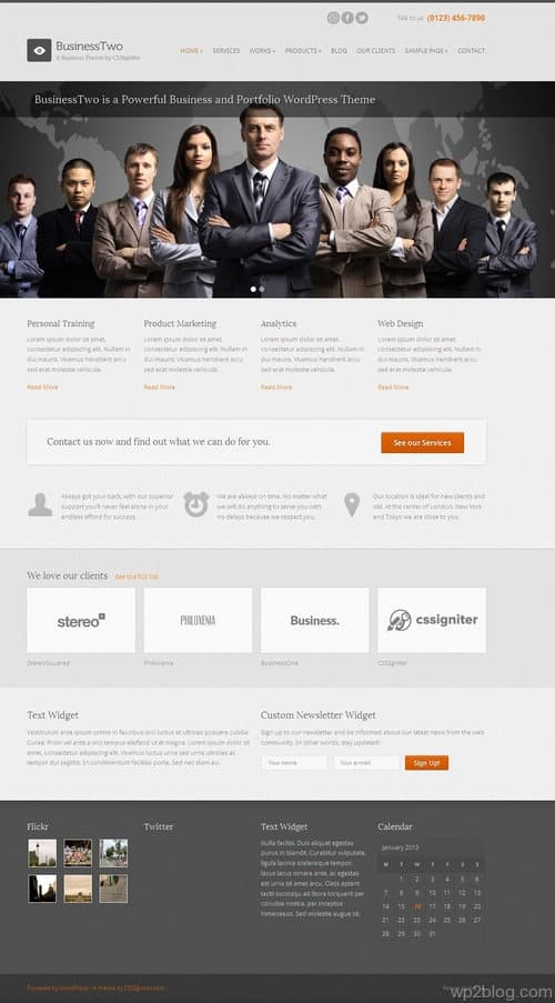 BusinessTwo WordPress Theme