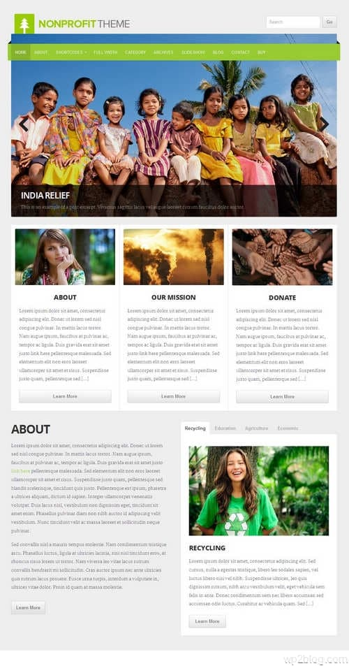 Non-Profit WordPress Theme V4