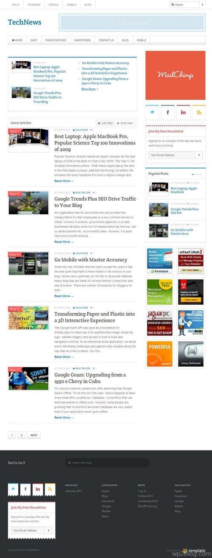 TechNews V2.0 WordPress Theme