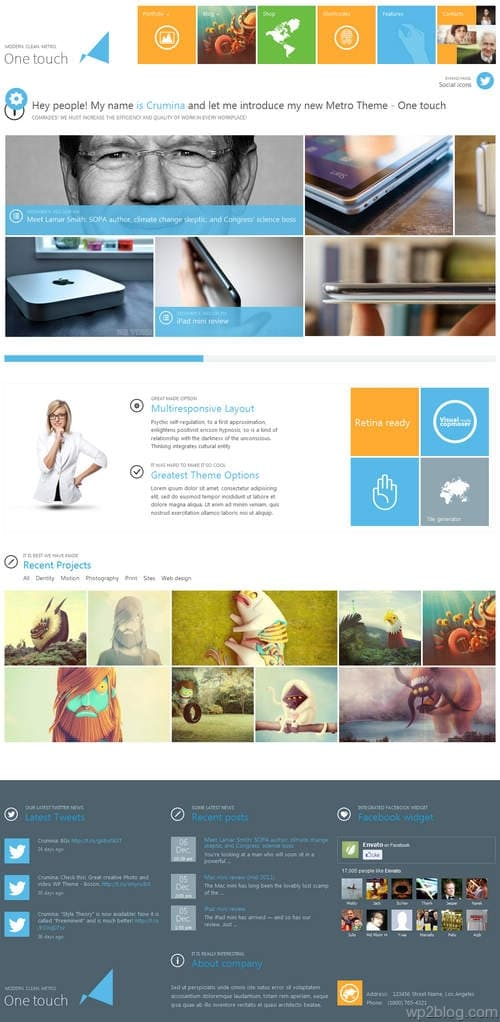 One Touch WordPress Theme