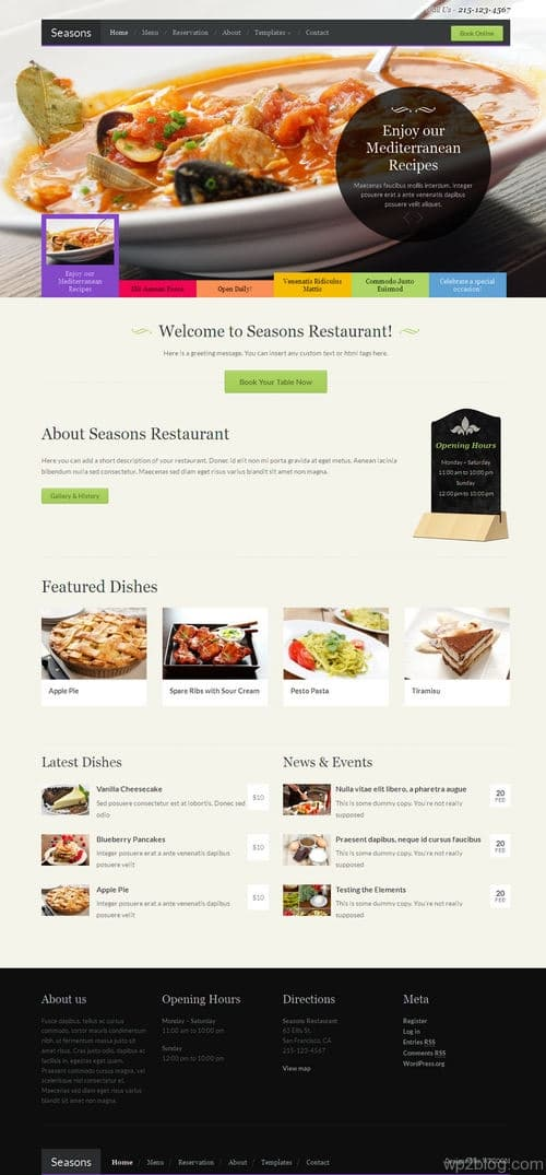 Seasons WordPress Theme