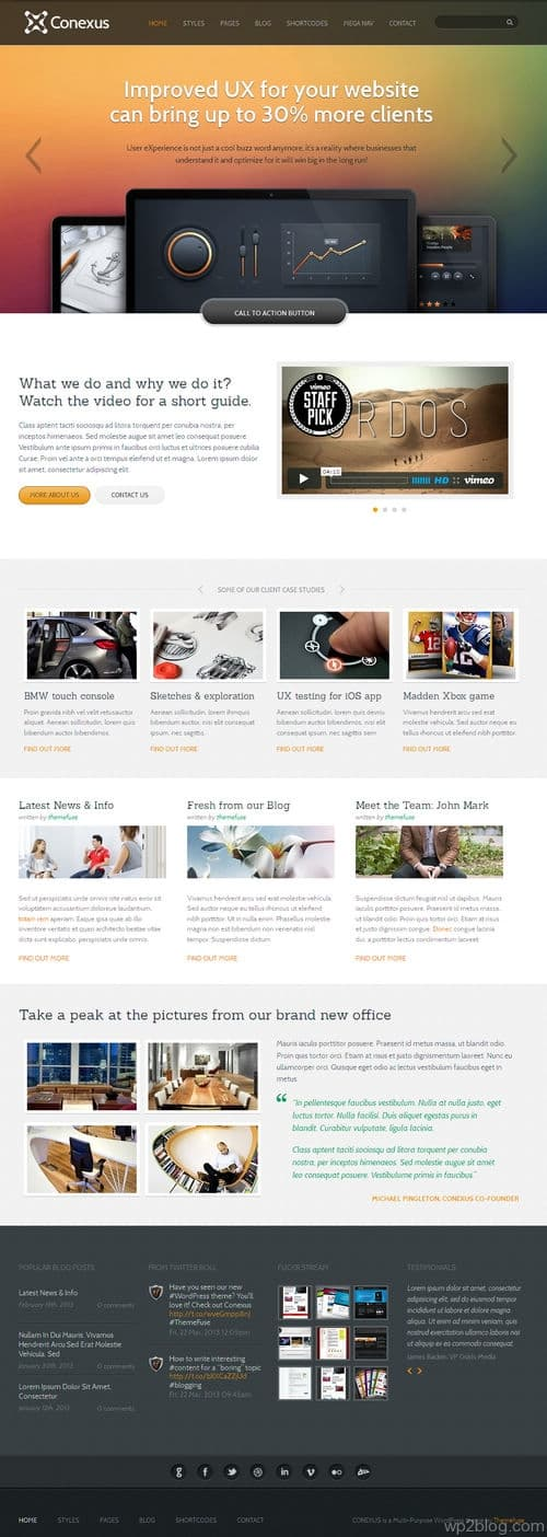 Conexus WordPress Theme