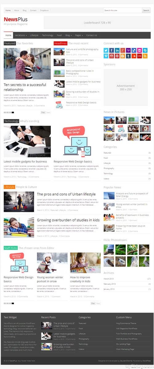 NewsPlus WordPress Theme