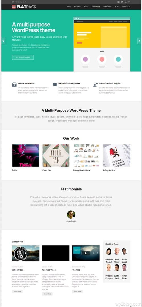Flatpack WordPress Theme