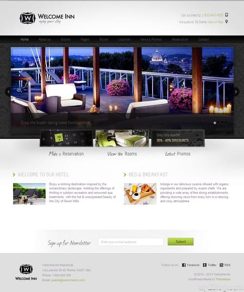 Welcome Inn Business WordPress Theme