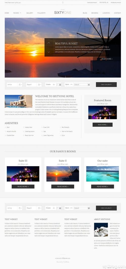 SixtyOne WordPress Theme