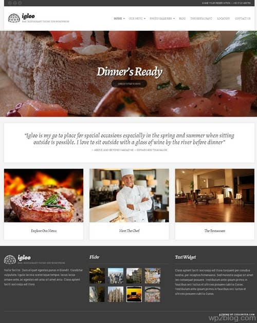 Igloo WordPress Theme